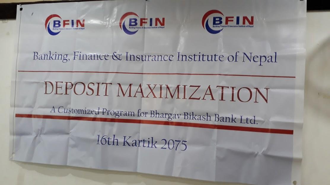 Deposit Maximization & Credit Management: Nepalgunj (Bhargav Bikash Bank Customized Program)